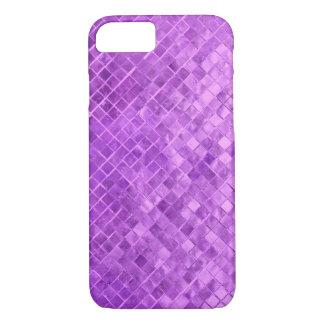 Capa iPhone 8/ 7 azulejo metálico do diamante roxo vívido