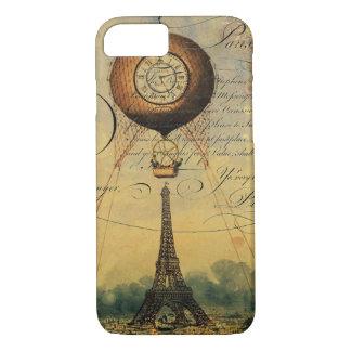 Capa iPhone 8/ 7 Balão de ar quente Steampunk da torre Eiffel
