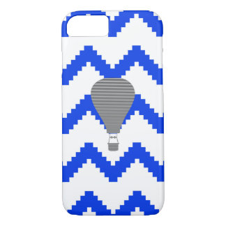 Capa iPhone 8/ 7 Balão de ar - ziguezague - azul