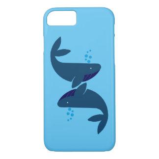 Capa iPhone 8/ 7 baleias azuis