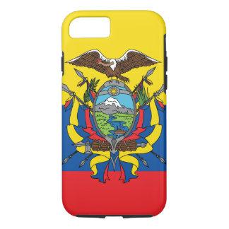 Capa iPhone 8/ 7 Bandeira abstrata de Equador, república de cores