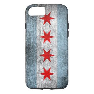 Capa iPhone 8/ 7 Bandeira afligida retro de Chicago
