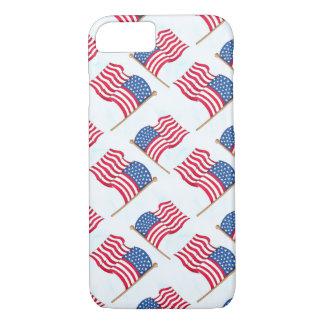 Capa iPhone 8/ 7 Bandeira americana 4o do azul branco vermelho de