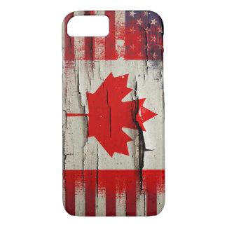Capa iPhone 8/ 7 Bandeira americana canadense da pintura | do