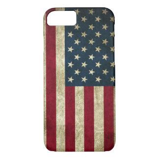 Capa iPhone 8/ 7 Bandeira americana dos EUA do Grunge patriótico do