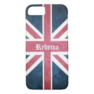 Capa iPhone 8/ 7 Bandeira britânica do jaque de união de Reino