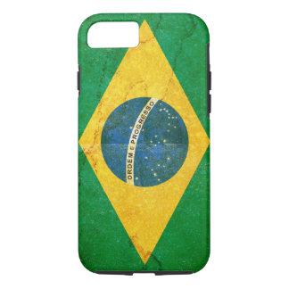 Capa iPhone 8/ 7 Bandeira de Brasil do Grunge do vintage