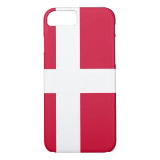 Capa iPhone 8/ 7 Bandeira de Dinamarca ou do pano dinamarquês
