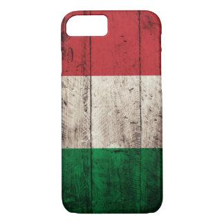 Capa iPhone 8/ 7 Bandeira de madeira velha de Italia