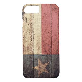 Capa iPhone 8/ 7 Bandeira de madeira velha de Texas;