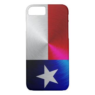 Capa iPhone 8/ 7 Bandeira de Texas; caso do iPhone 7 do metal-olhar