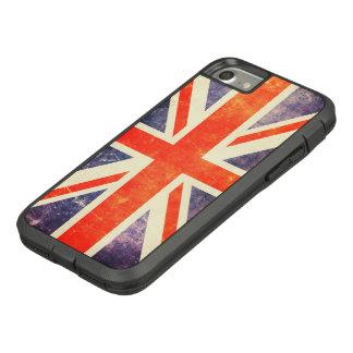 Capa iPhone 8/ 7 Bandeira de Union Jack do vintage