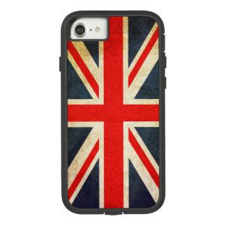 Capa iPhone 8/ 7 Bandeira de Union Jack Ingleses do vintage