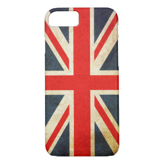 Capa iPhone 8/ 7 BANDEIRA de Union Jack Reino Unido do Grunge do