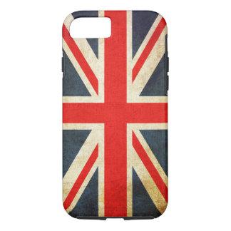 Capa iPhone 8/ 7 BANDEIRA de Union Jack Reino Unido do Grunge do