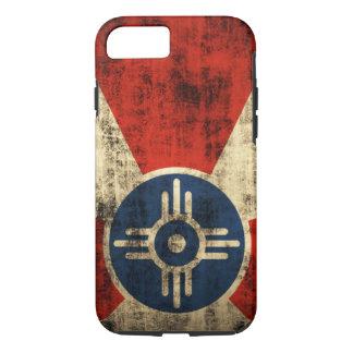 Capa iPhone 8/ 7 Bandeira de Wichita Kansas do Grunge do vintage