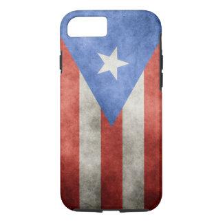 Capa iPhone 8/ 7 Bandeira do Grunge de Puerto Rico