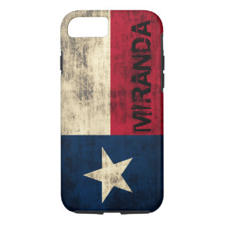 Capa iPhone 8/ 7 Bandeira do Grunge do vintage de Personalzied de