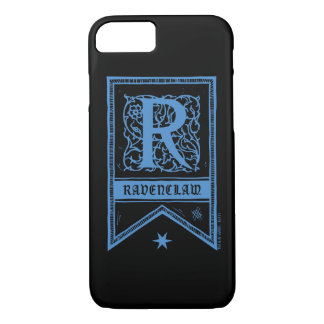 Capa iPhone 8/ 7 Bandeira do monograma de Harry Potter | Ravenclaw