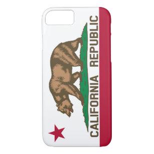 Capa iPhone 8/ 7 Bandeira do urso da república de Califórnia