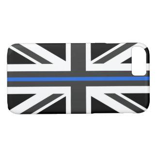 Capa iPhone 8/ 7 Bandeira fina de Blue Line Reino Unido