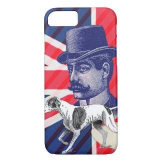 Capa iPhone 8/ 7 Bandeira inglesa do jaque de união da cabine de