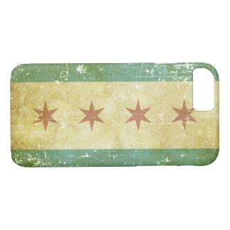 Capa iPhone 8/ 7 Bandeira patriótica gasta de Chicago