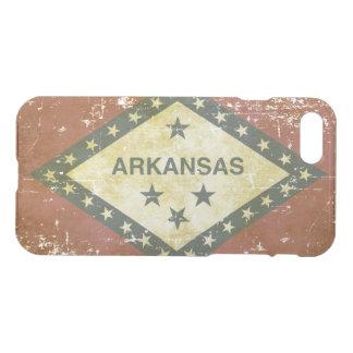 Capa iPhone 8/7 Bandeira patriótica gasta do estado de Arkansas