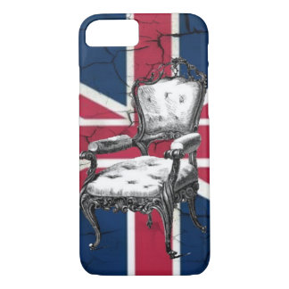Capa iPhone 8/ 7 Bandeira Rococo do jaque de união de Reino Unido