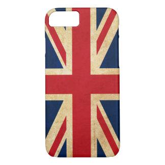 Capa iPhone 8/ 7 Bandeira Union Jack de Reino Unido do Grunge do