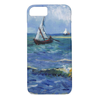 Capa iPhone 8/ 7 Barcos do Cargo-Impressionista na arte do mar,