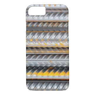 Capa iPhone 8/ 7 Bares de teste padrão de aço oxidados