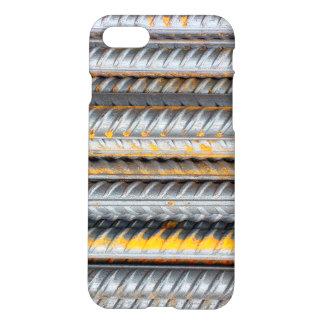 Capa iPhone 8/7 Bares de teste padrão de aço oxidados