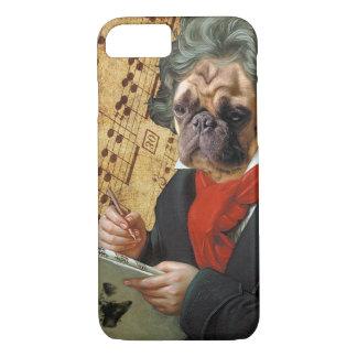 Capa iPhone 8/ 7 Barkthoven - o pug de Beethoven