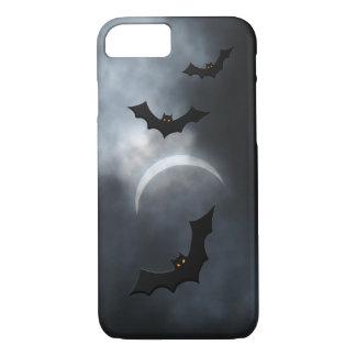 Capa iPhone 8/ 7 Bastões assustadores do Dia das Bruxas no eclipse