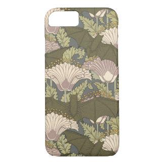 Capa iPhone 8/ 7 Bastões e Lillies de Nouveau da arte