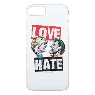 Capa iPhone 8/ 7 Batman | Harley Quinn & amor do palhaço/ódio