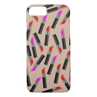 Capa iPhone 8/ 7 Batons vermelhos e cor-de-rosa. Maquilhador