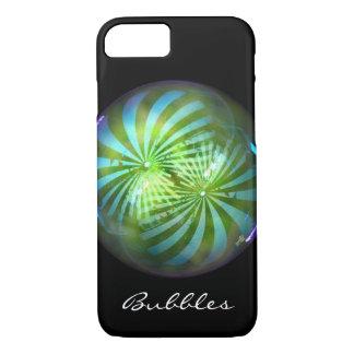 Capa iPhone 8/ 7 Baubles brilhantes da bolha do circo do Natal