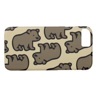 Capa iPhone 8/ 7 Bear dentro chá forest