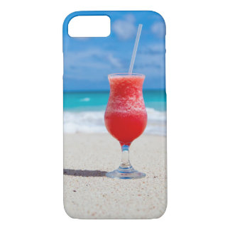 Capa iPhone 8/ 7 Bebida tropical do cocktail da praia