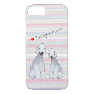 Capa iPhone 8/ 7 Bedlington Terrier ilustrou o caso do telemóvel
