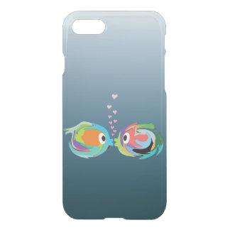 Capa iPhone 8/7 Beijando o caso claro do iPhone 7 dos peixes