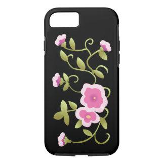 Capa iPhone 8/ 7 Belas artes florais chinesas cor-de-rosa bonitas