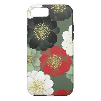 Capa iPhone 8/ 7 Belas artes florais do japonês do teste padrão do