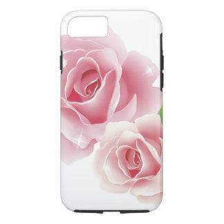 Capa iPhone 8/ 7 Belas artes retros femininos bonitos da flor