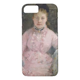 Capa iPhone 8/ 7 Berthe Morisot - o vestido cor-de-rosa
