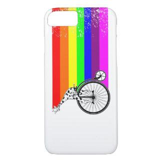 Capa iPhone 8/ 7 Bicicleta do arco-íris do girafa