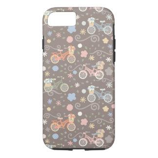 Capa iPhone 8/ 7 Bicicleta retro e flores