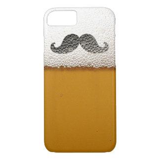 Capa iPhone 8/ 7 Bigode preto engraçado na espuma da cerveja